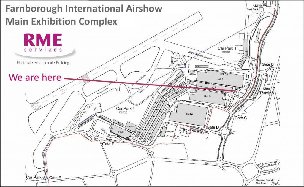 Farnborough Airshow Map Airshow site map   RME Farnborough